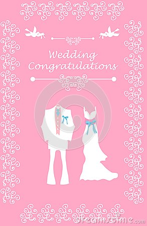 Wedding Bridal card with couple