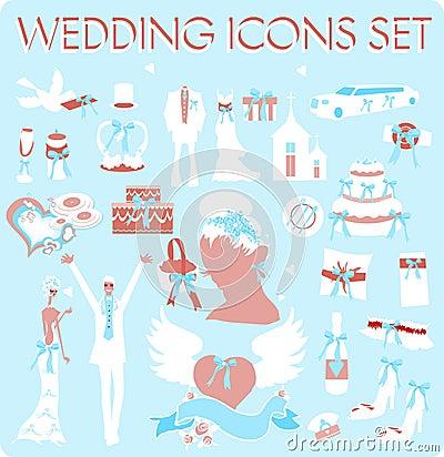 Wedding Bridal Icon set