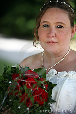 Wedding bride with nice eyes
