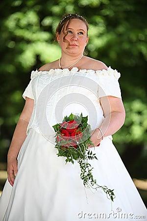 Wedding bride outdoor