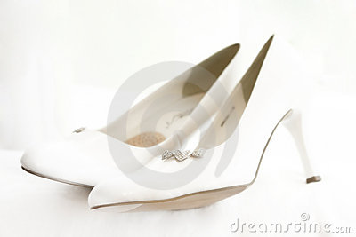 Wedding bride s shoes