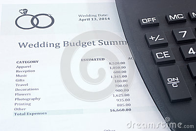 Wedding Budget with Calculator