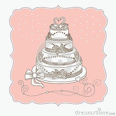 Free Wedding Cak Royalty Free Stock Photography - 19385507