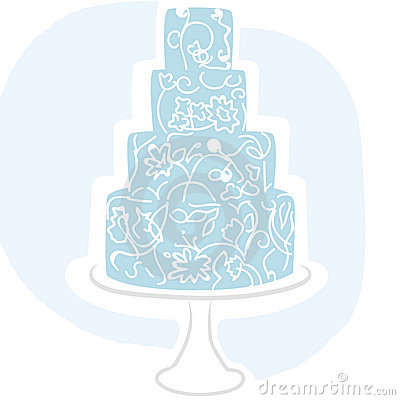Wedding cake blue vector