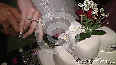 Wedding cake stock video
