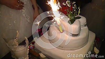 The wedding cake stock video footage