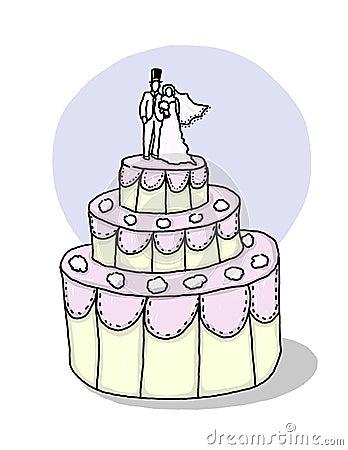 Wedding cake illustration