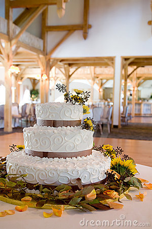 Wedding cake with lots of details