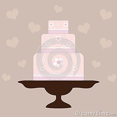Wedding Cake - Pink
