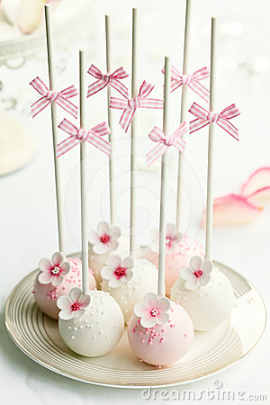 Free Wedding Cake Pops Stock Image - 24442481