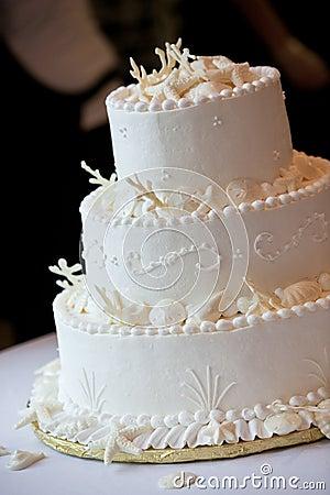 Wedding cake in white
