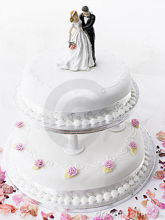 Free Wedding Cake With Bride And Groom Stock Photos - 8755683