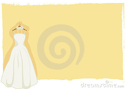 Wedding card - bridal gown vector
