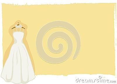 Wedding card - bridal gown vector