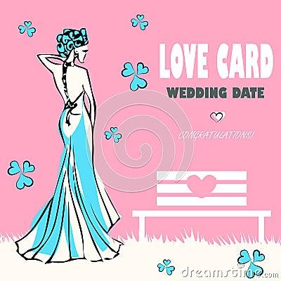 Wedding card, love congratulations