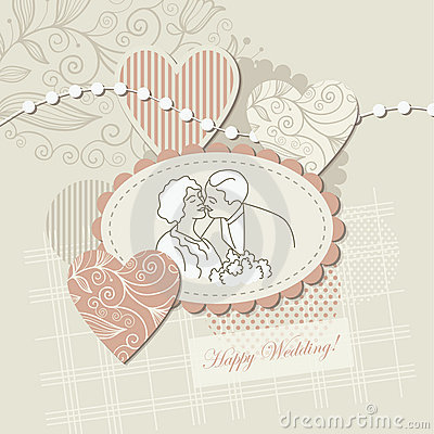 Wedding card ,scrap-booking element