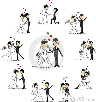 Wedding Cartoon Characters, Vector Royalty Free Stock ...