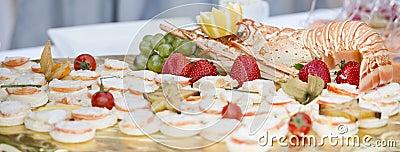Wedding catering buffet