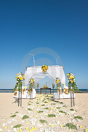 Wedding ceremony on a beach