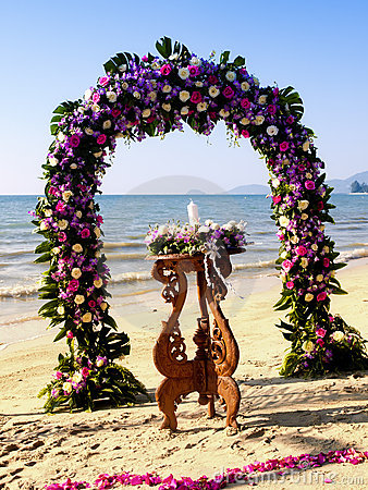 Wedding ceremony on a beach