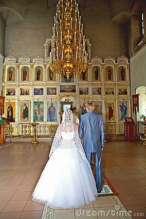 Wedding ceremony in christian church