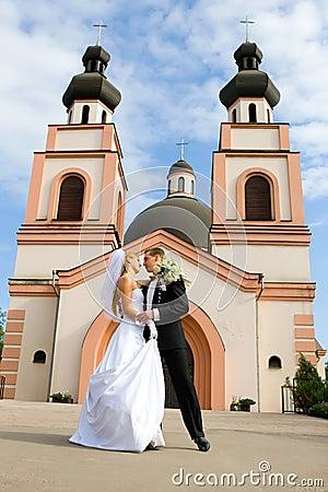 Wedding ceremony in church