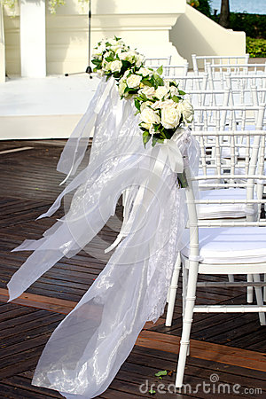 Free Wedding Chairs Royalty Free Stock Photography - 31376687