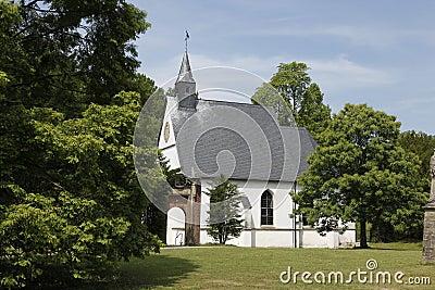 Wedding church blue sky