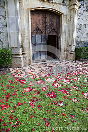 Wedding church door