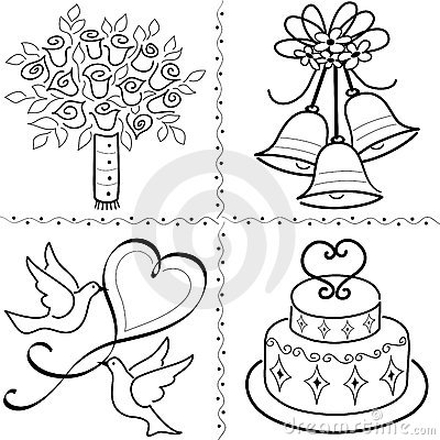 Free Wedding Clip Art Set/eps Royalty Free Stock Photos - 14784428