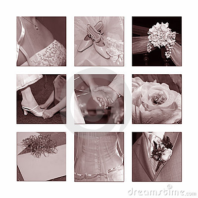 Free Wedding Collage Royalty Free Stock Photography - 668127