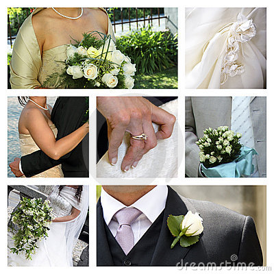 Free Wedding Collage Stock Photo - 8003530