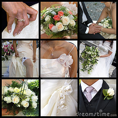 Free Wedding Collage Stock Photos - 8091903