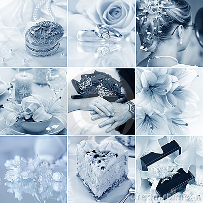 Free Wedding Collage Royalty Free Stock Photography - 8823127