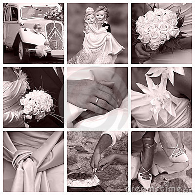 Free Wedding Concept - Collage Royalty Free Stock Photo - 10727255