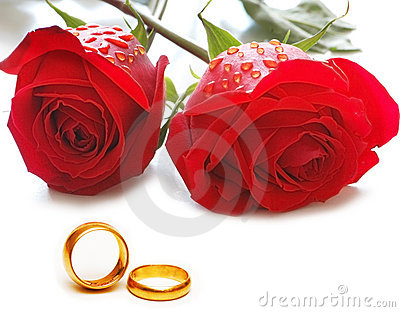 Wedding concept with roses