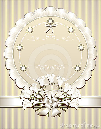 Wedding  Congratulation or Invitation with white r