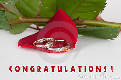 Wedding congratulations