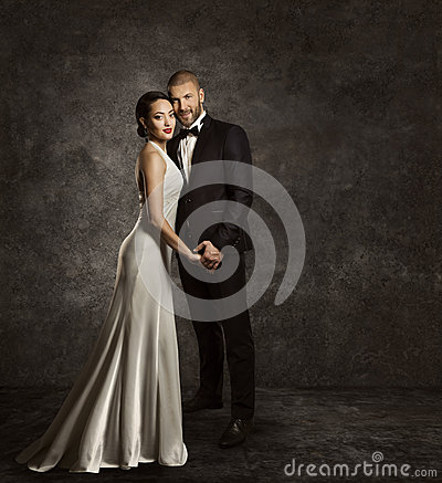Free Wedding Couple, Bride And Groom Fashion Portrait, Elegant Suit Stock Images - 53396284