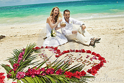 Wedding couple in Caribbean