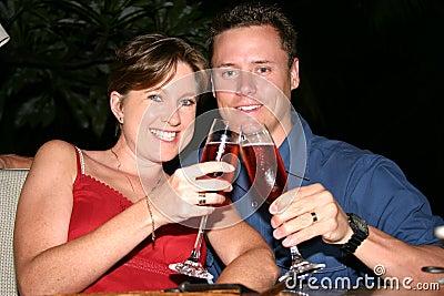 Wedding couple honeymoon cheers