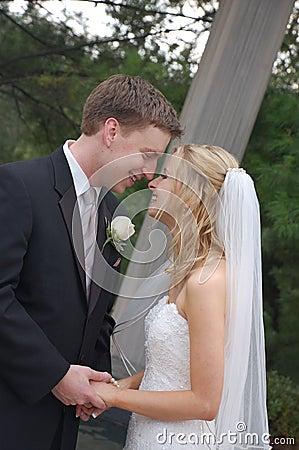 Wedding Couple in Park