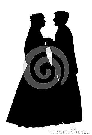 Wedding couple silhouette