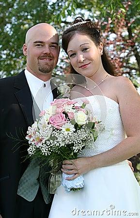 Free Wedding Couple Smile Royalty Free Stock Images - 419479