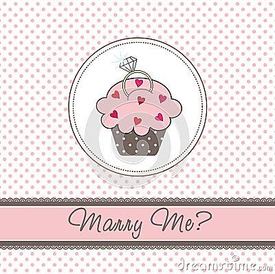 Free Wedding Cupcake Card Royalty Free Stock Images - 17665539