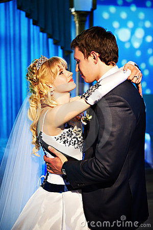 Wedding dance the bride and groom