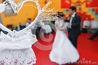 Wedding dance and heart