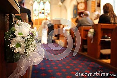 Wedding dans l église