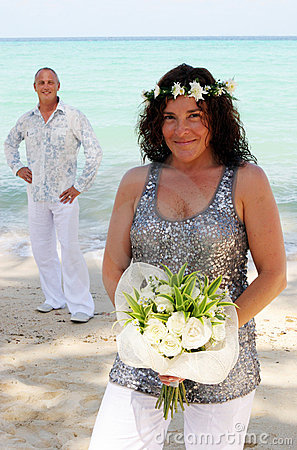 Wedding day on the beach