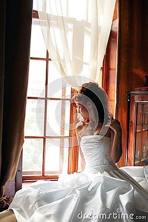 Wedding day bride white